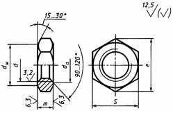 ГОСТ 2526-70: Гайки шестигранные низкие с уменьшенным размером «под ключ» класса точности А