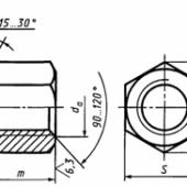 ГОСТ 5931-70: Гайки шестигранные особо высокие класса точности А
