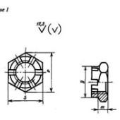 ГОСТ 5932-73: Гайки шестигранные прорезные и корончатые класса точности А