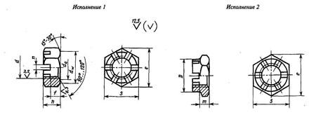 ГОСТ 5933-73: Гайки шестигранные прорезные и корончатые низкие класса точности А
