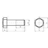 DIN 931: Болты с шестигранной головкой с неполной резьбой