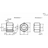 ГОСТ 15521-70: Гайки шестигранные с уменьшенным размером «под ключ» класса точности В