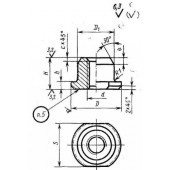 ГОСТ 18796-80: Гайки для пружинных пакетов. Конструкция и размеры