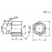 ГОСТ 11532-93: Гайки для болтов рельсовых стыков железнодорожного пути. Технические условия