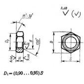 ГОСТ 10610-72: Гайки шестигранные низкие с уменьшенным размером «под ключ» с диаметром резьбы свыше 48 мм (повышенной точности). Конструкция и размеры
