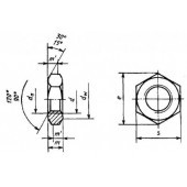 ГОСТ 10607-94 (ИСО 4035-86): Гайки шестигранные низкие (с фаской) с диаметром резьбы свыше 48 мм. Класса точности Б