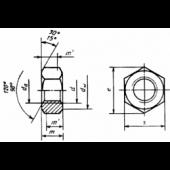 ГОСТ 10605-94: Гайки шестигранные с диаметром резьбы свыше 48 мм класса точности В