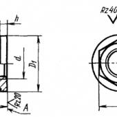 ГОСТ 8918-69: Гайки шестигранные с буртиком. Конструкция и размеры