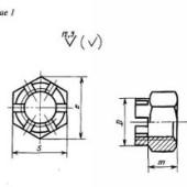 ГОСТ 5918-73 (CT СЭВ 2664-89): Гайки шестигранные прорезные и корончатые класса точности В. Конструкция и размеры