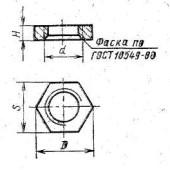 ГОСТ 8968-75: Части соединительные стальные с цилиндрической резьбой для трубопроводов р = 1,6 МПа. контргайки. Основные размеры