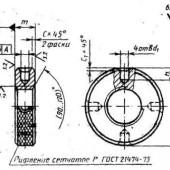 ГОСТ 8381-73: Гайки круглые с радиально расположенными отверстиями класса точности А. Конструкция и размеры