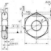 ГОСТ 19532-74: Устройства уплотнительные ввертных соединений с резиновыми кольцами круглого сечения. Гайки. Конструкция и размеры