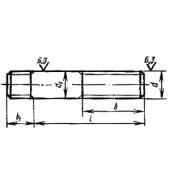 ГОСТ 22032-76: Шпильки с ввинчиваемым концом длиной 1D. Класс точности В