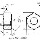ГОСТ 22354-77: Гайки высокопрочные класса точности В