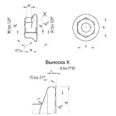 DIN 6923: Гайки шестигранные с фланцем