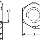 DIN 985 Гайка самоконтрящаяся низкая с нейлоновым стопорным кольцом