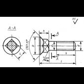 ГОСТ 7786-81: Болты с потайной головокой и квадратным подголовком класса точности С