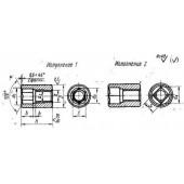 ГОСТ 14729-69: Гайки цилиндрические потайные. Конструкция и размеры