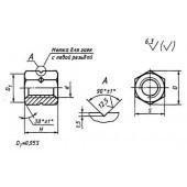 ГОСТ 12461-67: Гайки с трапецеидальной резьбой шестигранные высокие. Конструкция