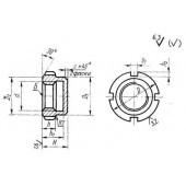 ГОСТ 12203-66: Приспособления станочные. Гайки круглые глухие. Конструкция
