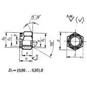 ГОСТ 10609-72: Гайки шестигранные корончатые с уменьшенным размером «под ключ» с диаметром резьбы свыше 48 мм (повышенной точности). Конструкция и размеры
