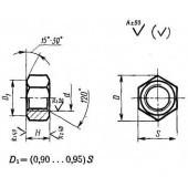 ГОСТ 10608-72: Гайки шестигранные с уменьшенным размером «под ключ» с диаметром резьбы свыше 48 мм