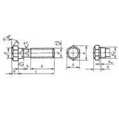 ГОСТ 7795-70: Болты с шестигранной уменьшенной головкой и направляющим подголовком класса точности В