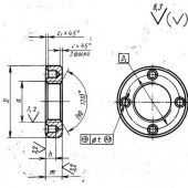 ГОСТ 6393—73 : Гайки круглые с отверстиями на торце «под ключ» класса точности А. Конструкция и размеры