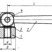 ГОСТ 8921-69: Гайки с шарнирной рукояткой. Конструкция и размеры