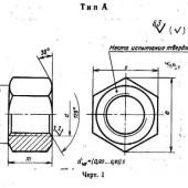 ГОСТ 9064-75: Гайки для фланцевых соединений с температурой среды от о до 650с. типы и основные размеры