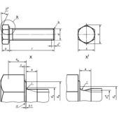 ГОСТ Р ИСО 4014-2013: Болты с шестигранной головкой. Классы точности А и В