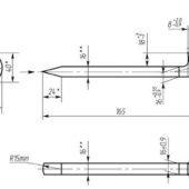 ГОСТ 5812: Костыли для железных дорог широкой колеи (класс точности С)